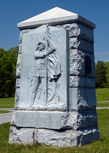 4th Michigan Infantry monument at Gettysburg. Image ©2015 Look Around You Ventures, LLC.